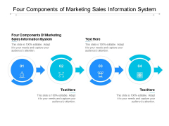 Four Components Of Marketing Sales Information System Ppt PowerPoint Presentation Gallery Graphics Design Cpb