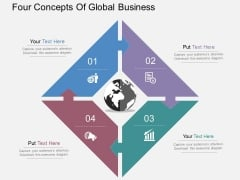 Four Concepts Of Global Business Powerpoint Templates