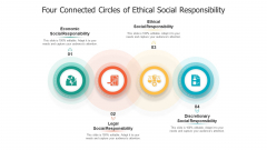 Four Connected Circles Of Ethical Social Responsibility Ppt Slides Infographic Template PDF