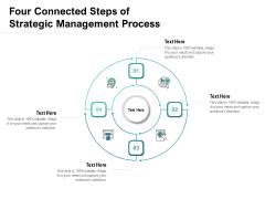 Four Connected Steps Of Strategic Management Process Ppt PowerPoint Presentation Slides Ideas