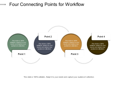 Four Connecting Points For Workflow Ppt PowerPoint Presentation Show Mockup