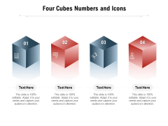 Four Cubes Numbers And Icons Ppt PowerPoint Presentation Styles Examples PDF