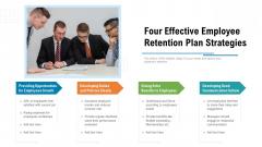 Four Effective Employee Retention Plan Strategies Ppt Summary Background Designs PDF