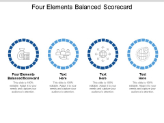 Four Elements Balanced Scorecard Ppt PowerPoint Presentation Styles Themes Cpb