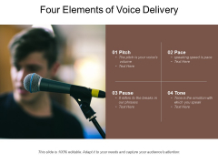 Four Elements Of Voice Delivery Ppt PowerPoint Presentation File Show