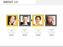 Four Employees Profiles For Introduction Powerpoint Slides