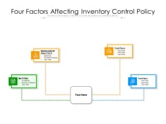 Four Factors Affecting Inventory Control Policy Ppt PowerPoint Presentation Gallery Deck PDF