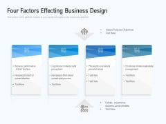Four Factors Effecting Business Design Ppt PowerPoint Presentation Gallery Guide PDF