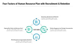 Four Factors Of Human Resource Plan With Recruitment And Retention Ppt PowerPoint Presentation Model Show