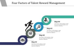 Four Factors Of Talent Reward Management Ppt PowerPoint Presentation Infographic Template Ideas