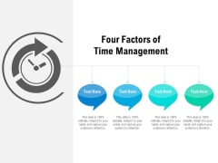 Four Factors Of Time Management Ppt PowerPoint Presentation Gallery Microsoft PDF
