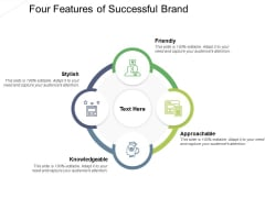Four Features Of Successful Brand Ppt PowerPoint Presentation Ideas Information