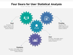 Four Gears For User Statistical Analysis Ppt PowerPoint Presentation Professional Outline PDF