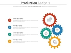 Four Gears Infographics For Advantage Positioning Powerpoint Template