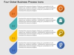 Four Global Business Process Icons Powerpoint Templates