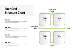Four Grid Structure Chart Ppt PowerPoint Presentation Model Graphics Download