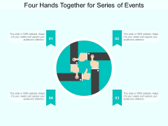 Four Hands Together For Series Of Events Ppt Powerpoint Presentation Gallery Design Templates