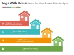 Four House Tags For Real Estate Market Powerpoint Slides