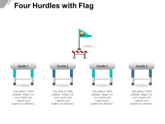 Four Hurdles With Flag Ppt PowerPoint Presentation Styles Guidelines