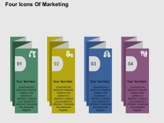 Four Icons Of Marketing Powerpoint Templates