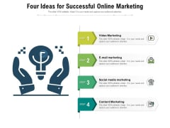 Four Ideas For Successful Online Marketing Ppt PowerPoint Presentation Gallery Introduction PDF