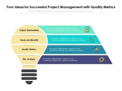 Four Ideas For Successful Project Management With Quality Metrics Ppt PowerPoint Presentation File Visuals PDF