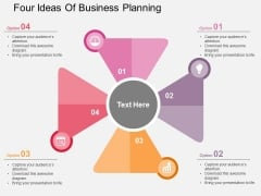 Four Ideas Of Business Planning Powerpoint Templates