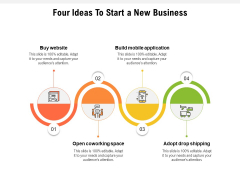 Four Ideas To Start A New Business Ppt PowerPoint Presentation Inspiration Pictures PDF