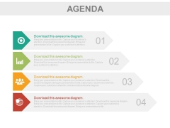 Four Infographic Tags To Present Business Agenda Powerpoint Slides