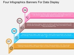 Four Infographics Banners For Data Display Powerpoint Template