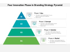 Four Innovation Phase In Branding Strategy Pyramid Ppt PowerPoint Presentation Gallery Layouts PDF