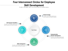 Four Interconnect Circles For Employee Skill Development Ppt PowerPoint Presentation File Backgrounds PDF