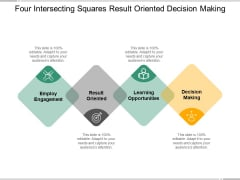 Four Intersecting Squares Result Oriented Decision Making Ppt PowerPoint Presentation Pictures Layout Ideas