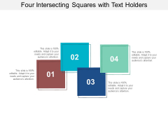 Four Intersecting Squares With Text Holders Ppt PowerPoint Presentation Summary Outline