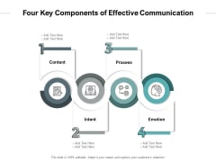 Four Key Components Of Effective Communication Ppt PowerPoint Presentation Layouts Rules PDF