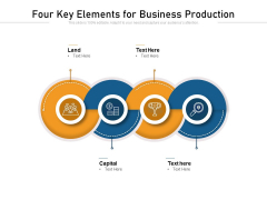 Four Key Elements For Business Production Ppt PowerPoint Presentation Gallery Rules PDF