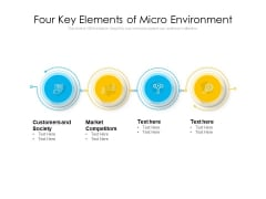 Four Key Elements Of Micro Environment Ppt PowerPoint Presentation Gallery Influencers PDF