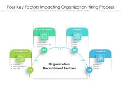 Four Key Factors Impacting Organization Hiring Process Ppt PowerPoint Presentation File Pictures PDF