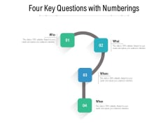 Four Key Questions With Numberings Ppt PowerPoint Presentation Styles Images PDF