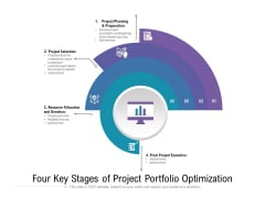 Four Key Stages Of Project Portfolio Optimization Ppt PowerPoint Presentation Gallery Infographic Template PDF