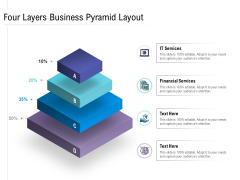 Four Layers Business Pyramid Layout Ppt PowerPoint Presentation Background Image PDF