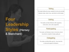 Four Leadership Styles Hersey And Blanchard Ppt PowerPoint Presentation Examples