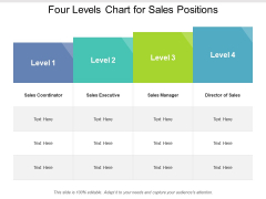 Four Levels Chart For Sales Positions Ppt PowerPoint Presentation Show