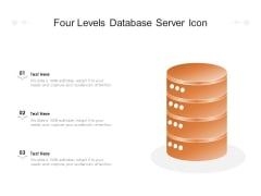 Four Levels Database Server Icon Ppt PowerPoint Presentation Gallery Graphic Tips PDF