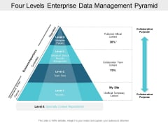 Four Levels Enterprise Data Management Pyramid Ppt PowerPoint Presentation Gallery Summary