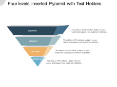 Four Levels Inverted Pyramid With Text Holders Ppt PowerPoint Presentation Inspiration Topics