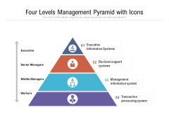 four levels management pyramid with icons ppt powerpoint presentation ideas background pdf