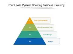 four levels pyramid showing business hierarchy ppt powerpoint presentation professional guidelines pdf