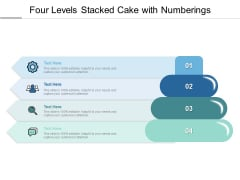 Four Levels Stacked Cake With Numberings Ppt PowerPoint Presentation Summary Mockup PDF