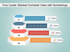 Four Levels Stacked Cornered Cake With Numberings Ppt PowerPoint Presentation Summary Example PDF